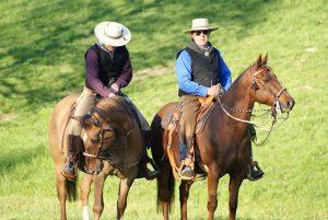 Zufriedene Menschen auf zufriedenen Pferden!